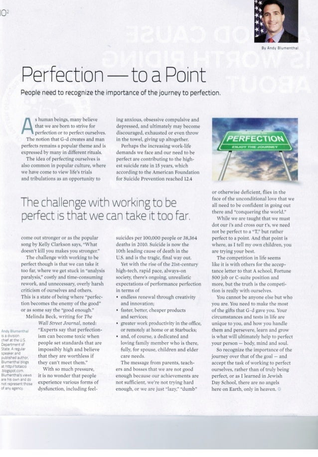 Perfection To A Point - Andy Blumenthal