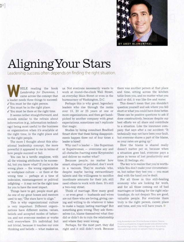 Aligning Your Stars - Andy Blumenthal