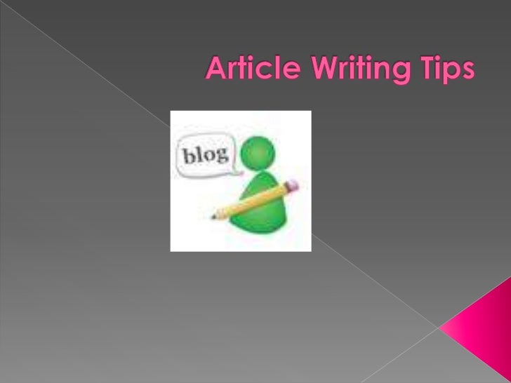 Article Writing Tips<br />