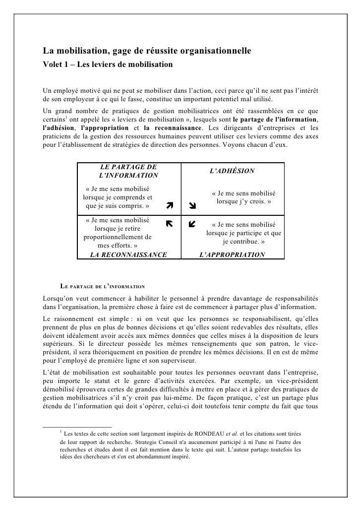 Article 1   leviers de mobilisation