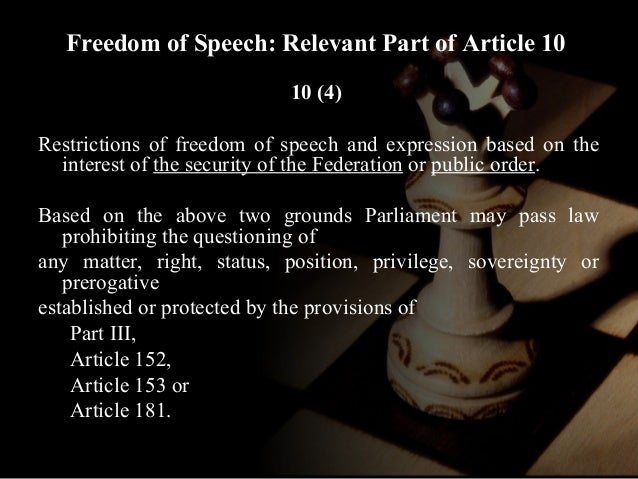 the importance of freedom of speech in a society The importance of the first amendment congress shall make no law respecting an establishment of religion, or prohibiting the free exercise thereof or abridging the freedom of speech, this amendment is the most important part of the constitution.