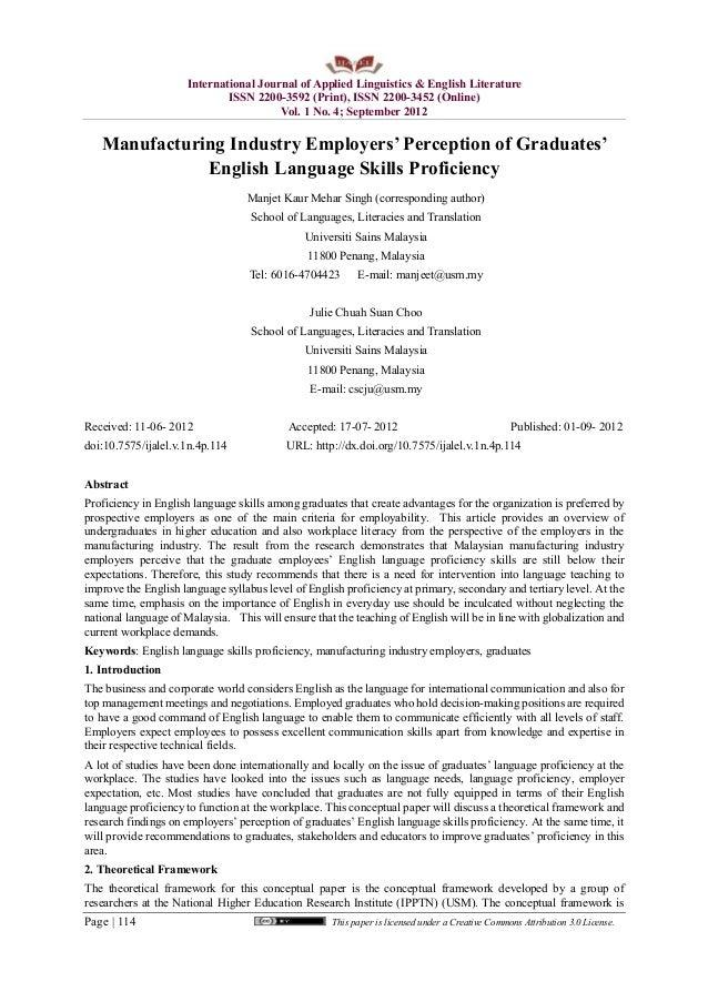 International Journal of Applied Linguistics & English Literature ISSN 2200-3592 (Print), ISSN 2200-3452 (Online) Vol. 1 N...