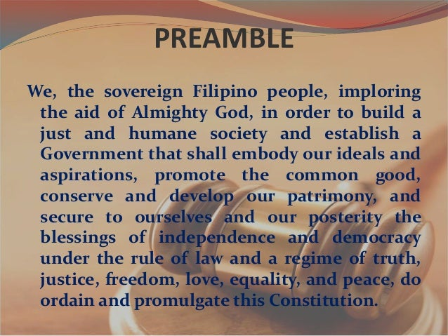 the 1987 philippines constitution provions of