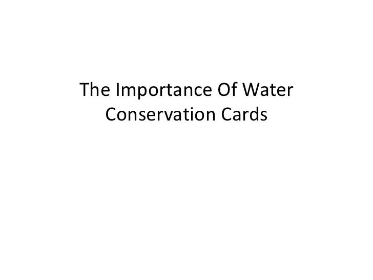 Importance of Water Conservation