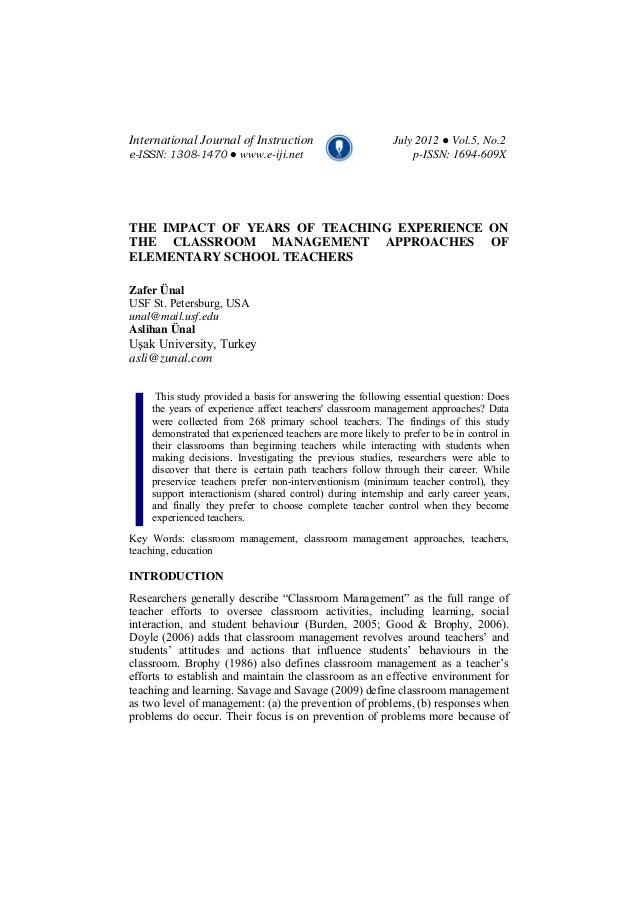International Journal of Instruction July 2012 ● Vol.5, No.2 e-ISSN: 1308-1470 ● www.e-iji.net p-ISSN: 1694-609X THE IMPAC...