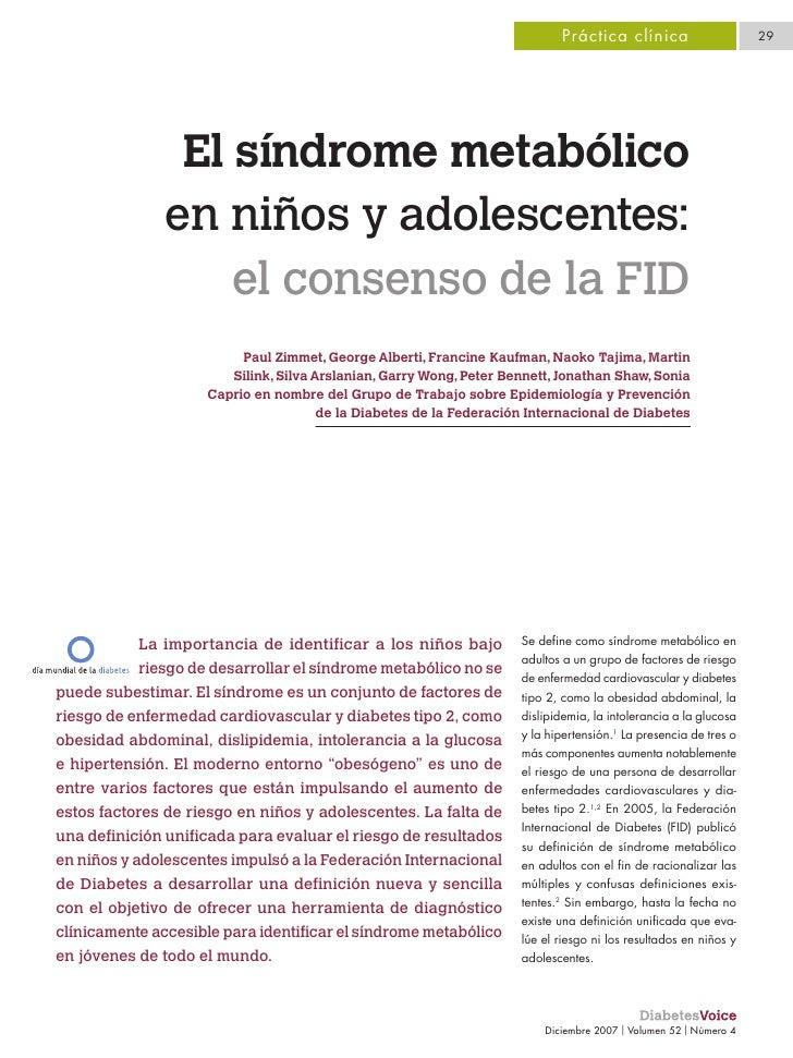 Obesidad, Sd. metabólico en niños y adolescentes
