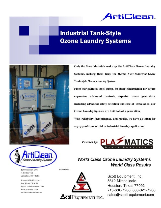 Articlean AT Tank Style Ozone Laundry System