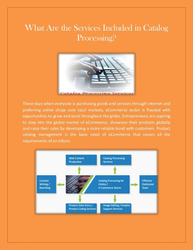 What Are the Services Included in Catalog Processing?
