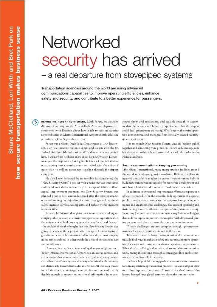 Networked security has arrived - Ericsson Review