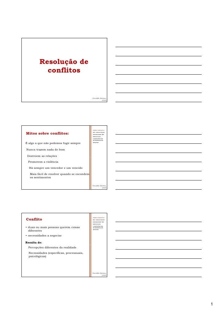 Resolução de            conflitos                                                  Osvaldo Santos,                        ...