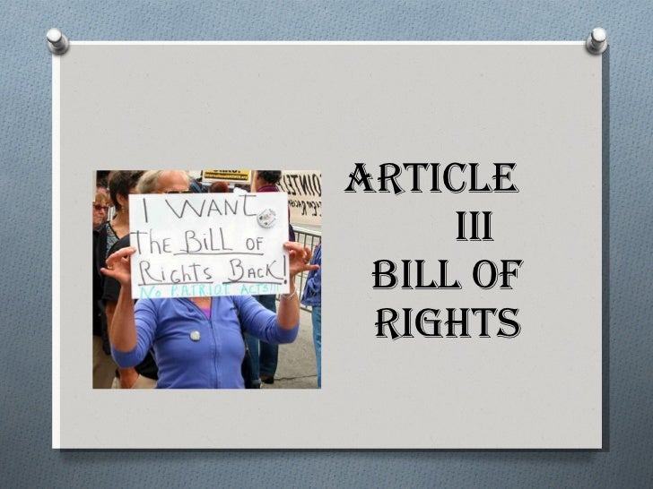 Article III Bill of Rights