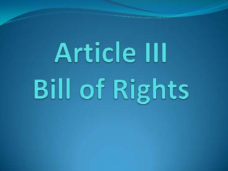 Article III part 1