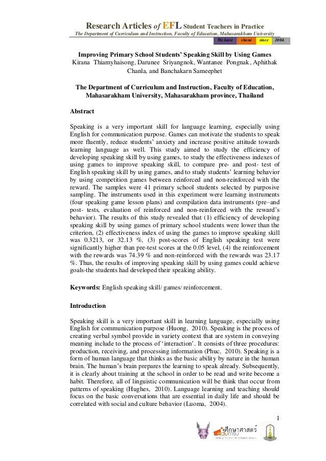 Article intradepartmental journal of efl student teachers in practice
