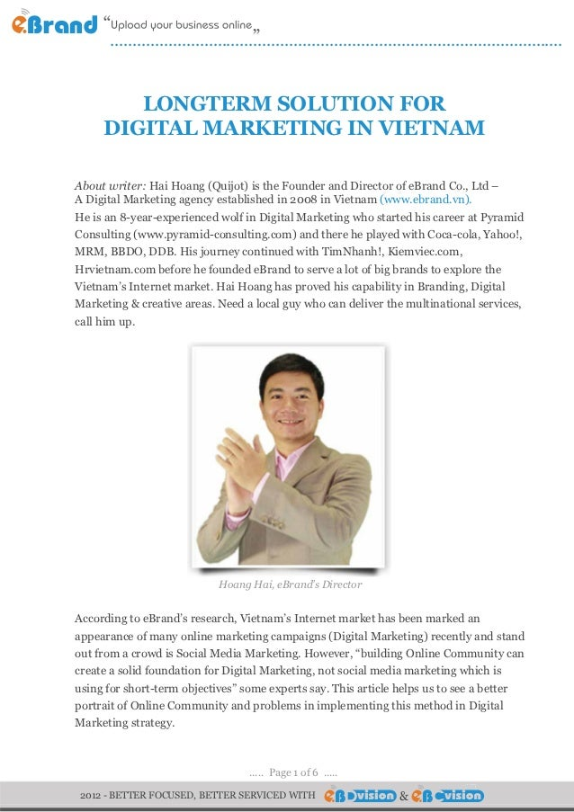 Longterm Solution for Digital Marketing in VietNam