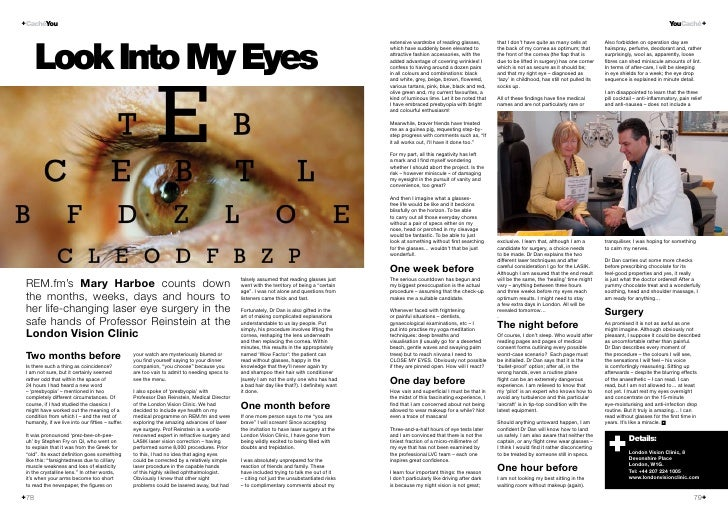 Caché Magazine Laser Eye Surgery Article