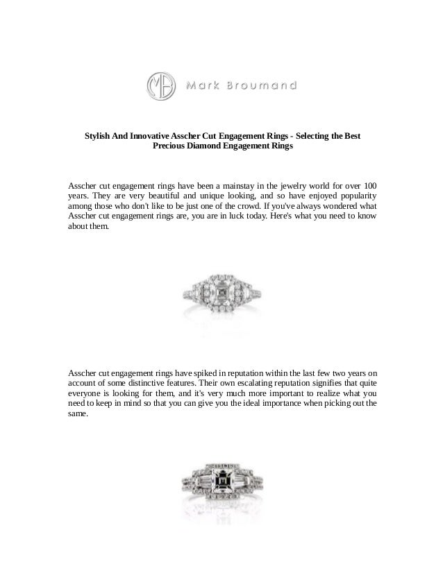Stylish And Innovative Asscher Cut Engagement Rings - Selecting the Best Precious Diamond Engagement Rings Asscher cut eng...