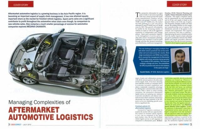 Aftermarket Automotive Logistics