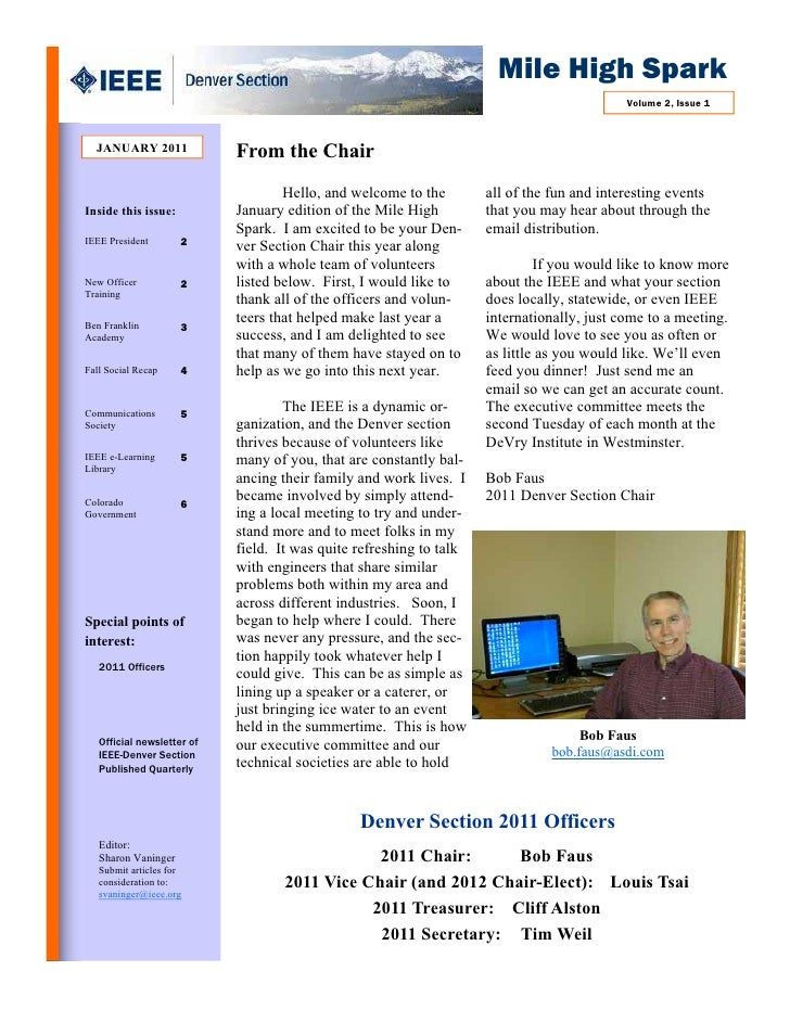 Article on BFA in IEEE Quarterly newsletter (Jan'11, Vol2, Issue 1)