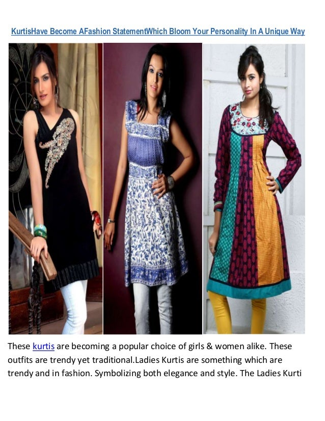 KurtisHave Become AFashion StatementWhich Bloom Your Personality In A Unique WayThese kurtis are becoming a popular choice...