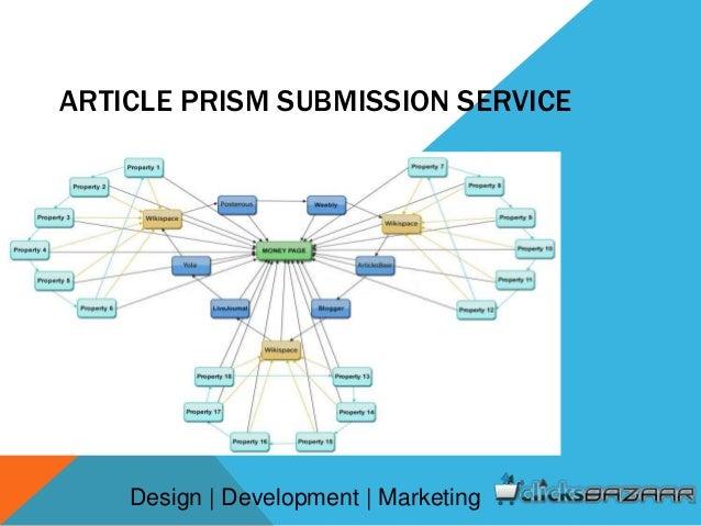 ARTICLE PRISM SUBMISSION SERVICE Design | Development | Marketing
