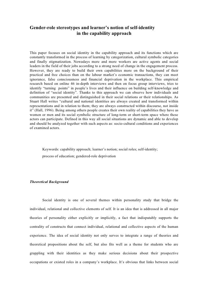 Article proposal for the tf cje special issue about the capability approach marta zientek (deadline 31.07.11)