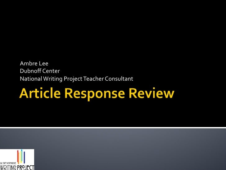 Article response