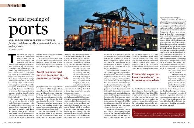 Roberto Ticoulat - President CECIEx - Article Revista PIB