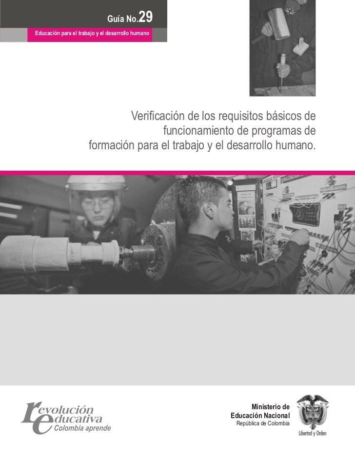 Documento No.                            Guía No.       29 6Educación para el trabajo y el desarrollo humano              ...
