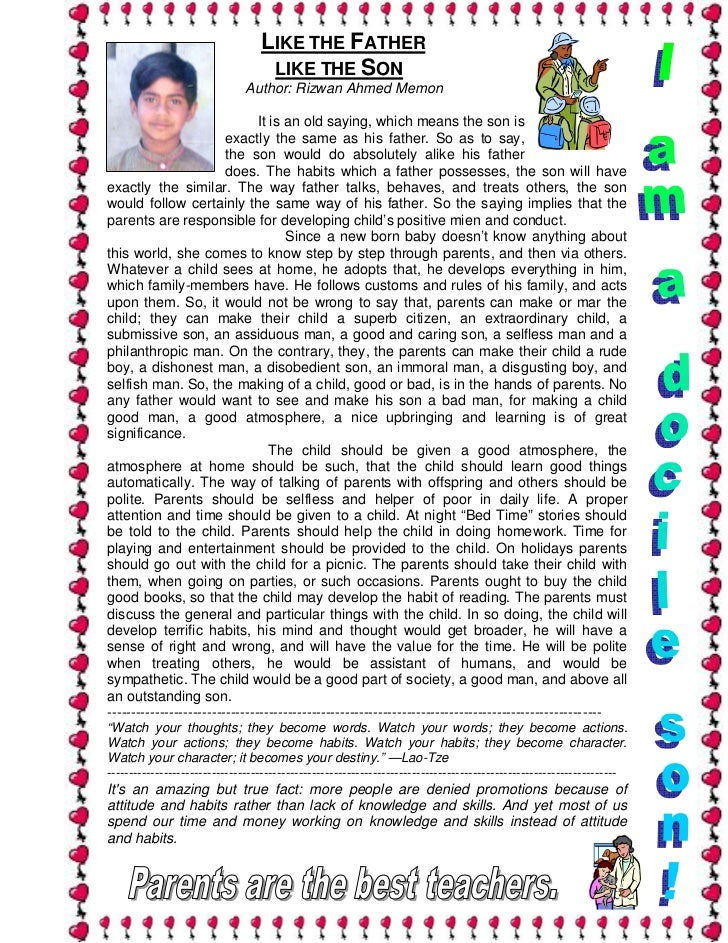 reading as a habit essay for kids Reading habits in children essay in malayalam | order a short essay for kids on the habit of reading short essay for kids on the habit of reading.