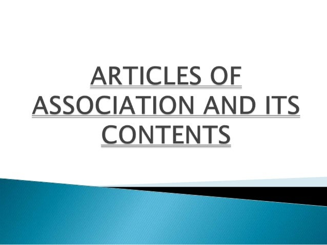    'Articles' means the articles of association of a company    as originally framed or as altered from time to time in  ...