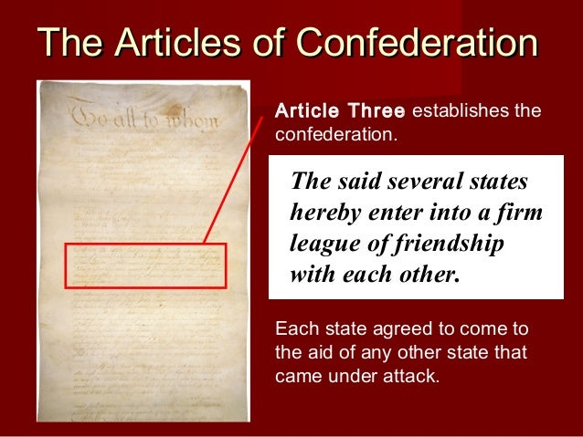 essay articles confederation weaknesses View essay - the articles of confederation essay the weaknesses of the article of confederation and why they need from us history 203984 at connections program.