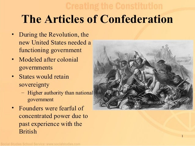 What are the articles of confederation?