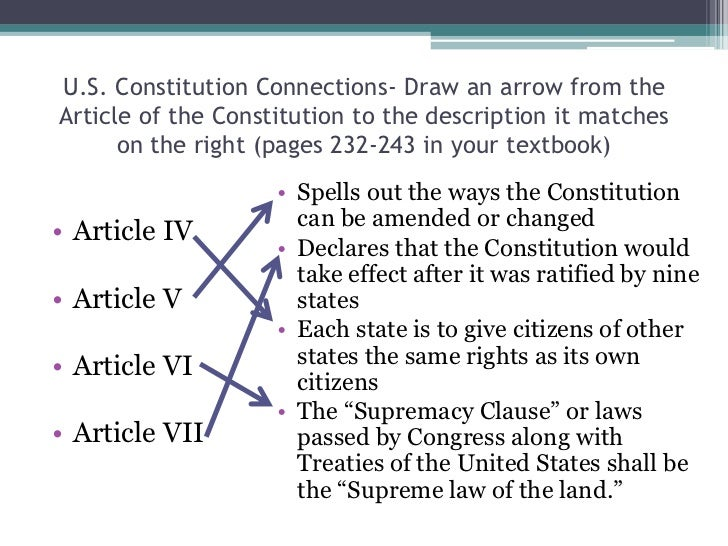 The articles and constitution in the framing of the united states ...