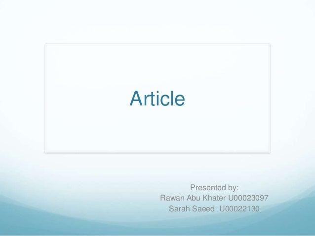 Article week 3