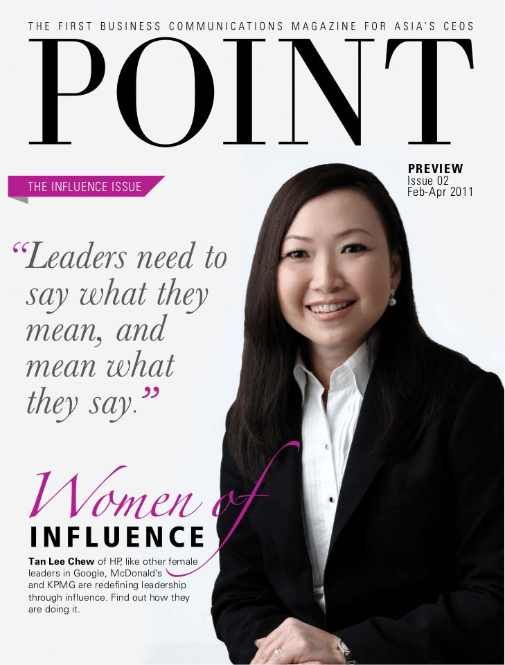 """Preview                                        Issue 02 THE INFLUENCE ISSUE                    Feb-Apr 2011""""Leaders need t..."""