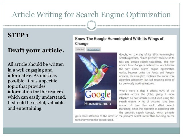Article search engine