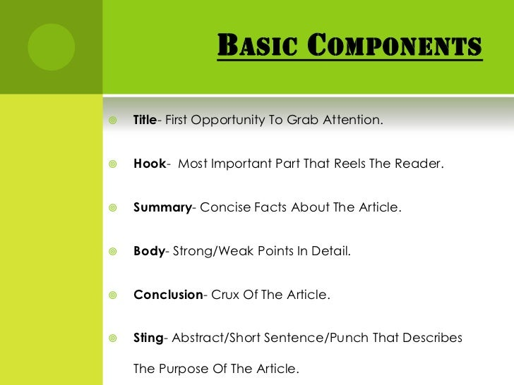 Purpose of summary writing