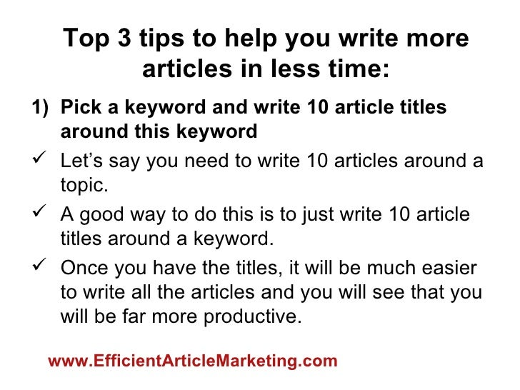 Write an article on