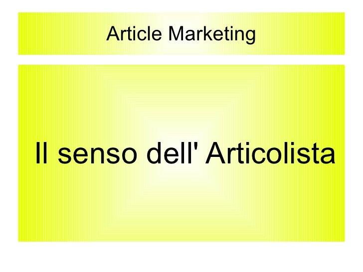 Articles-Marketing Alcune Slide del corso di Formazione Seo Copywriter
