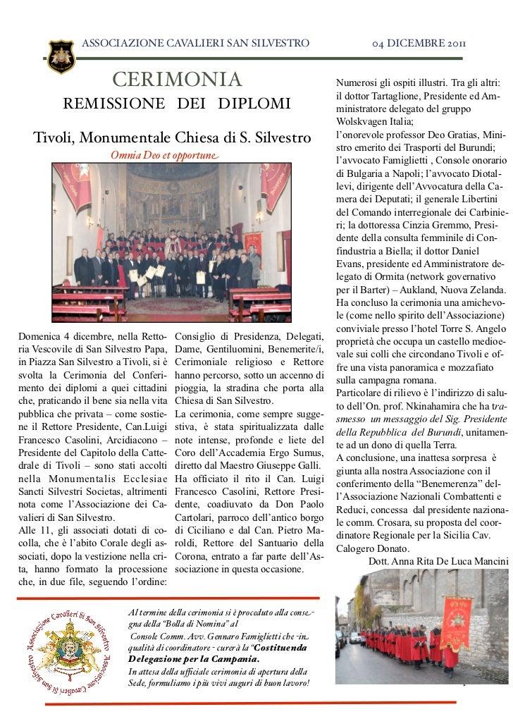 Articolo cerimonia 4 dicembre 2011