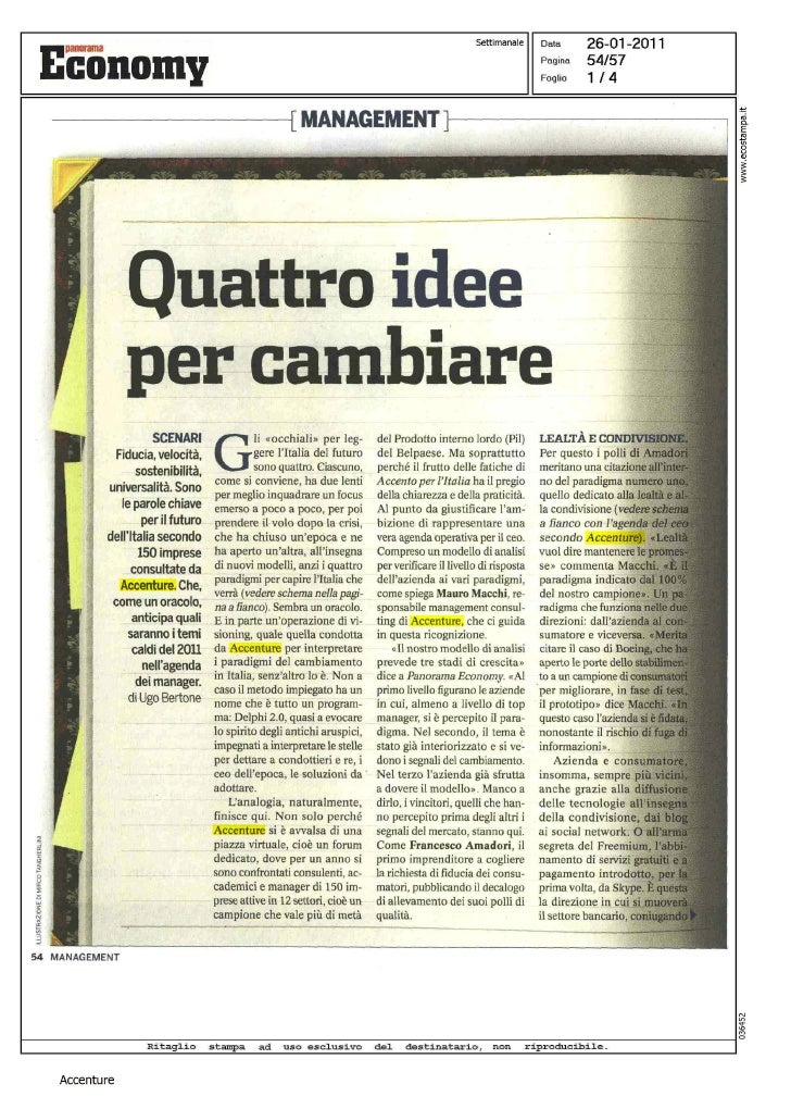 Quattro idee per cambiare di Ugo Bertone