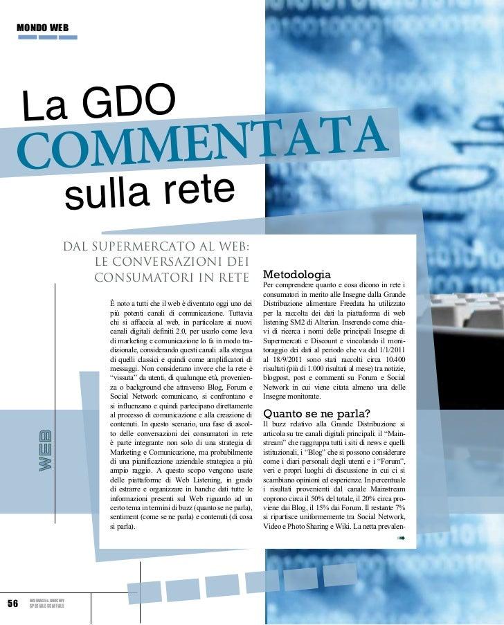 mondo web     La GDO commentata                         sulla rete                     Dal supermercato al web:           ...