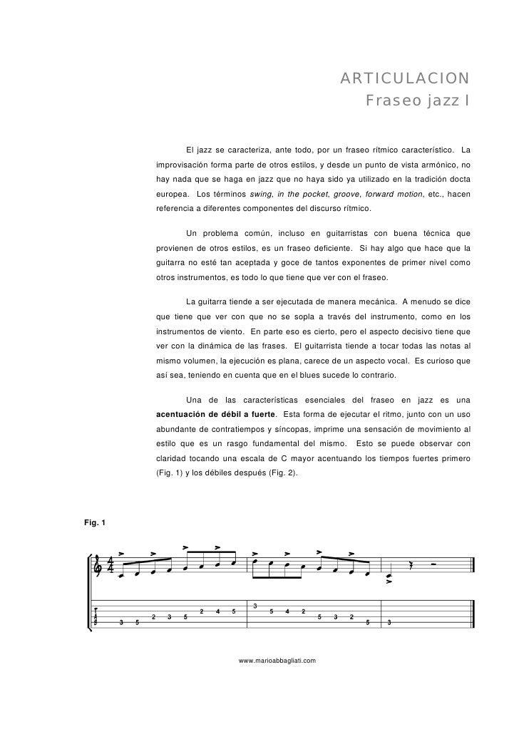 Articulacion   Fraseo Jazz I