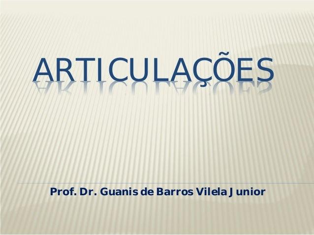 ARTICULAÇÕES Prof. Dr. Guanis de Barros Vilela Junior