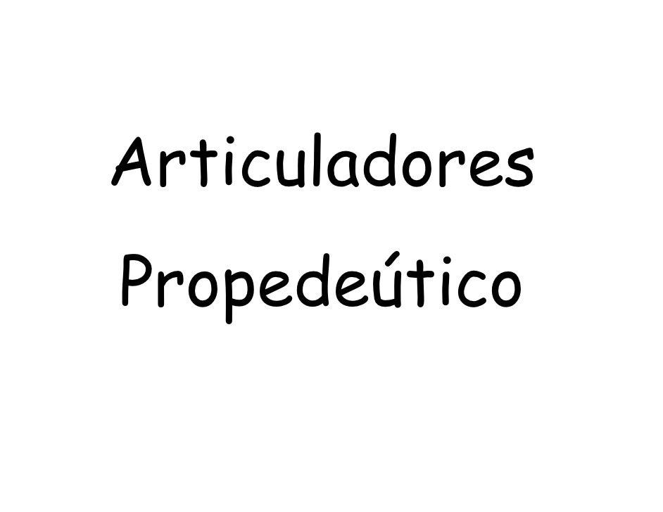 Articuladores PropedeúTico