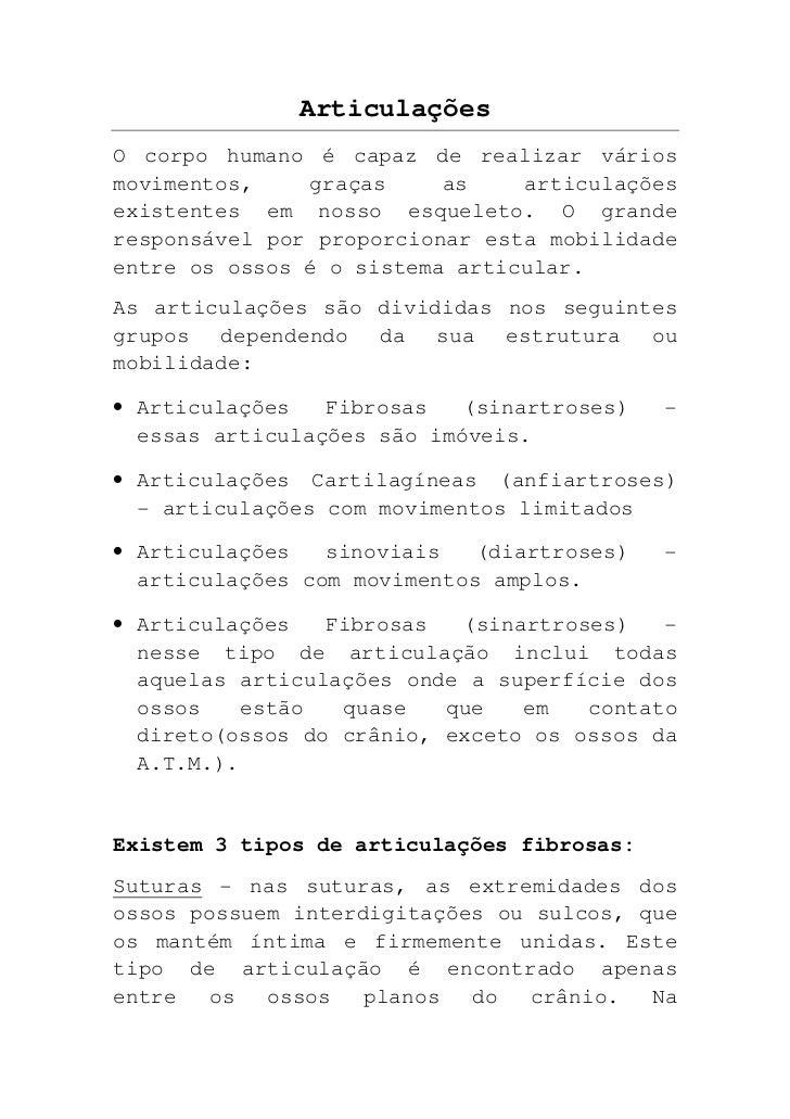 Articulações