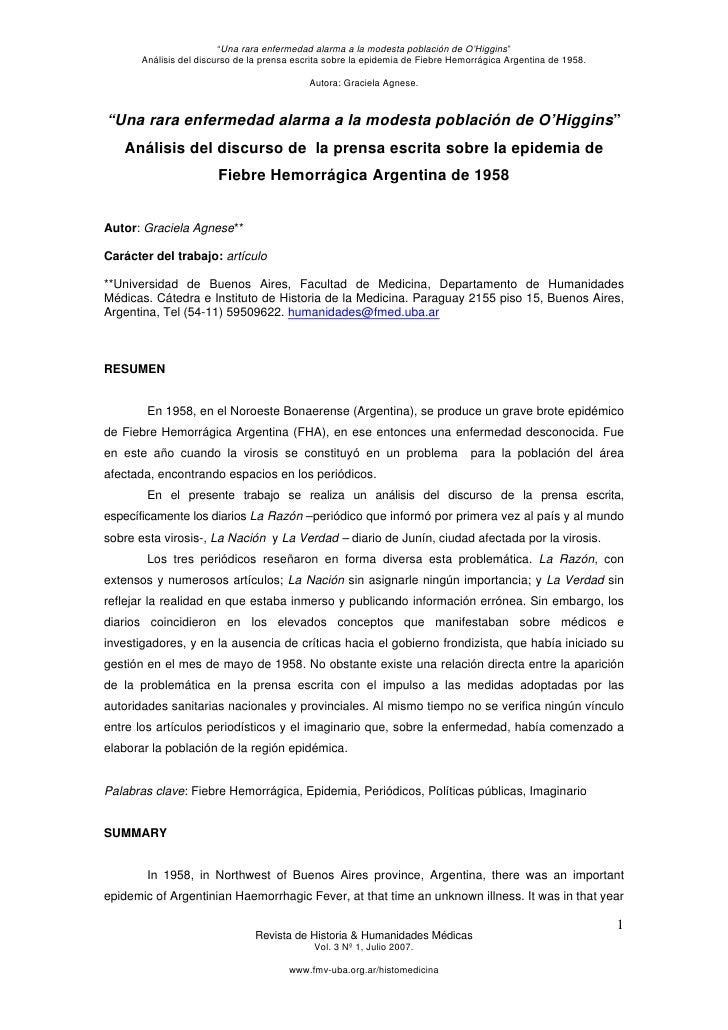 Articulo   fiebre hemorragica argentina de 1958