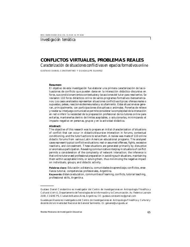Revista Mexicana de Investigación Educativa 65 RMIE, ENERO-MARZO 2010, VOL. 15, NÚM. 44, PP. 65-84 Investigación temática ...