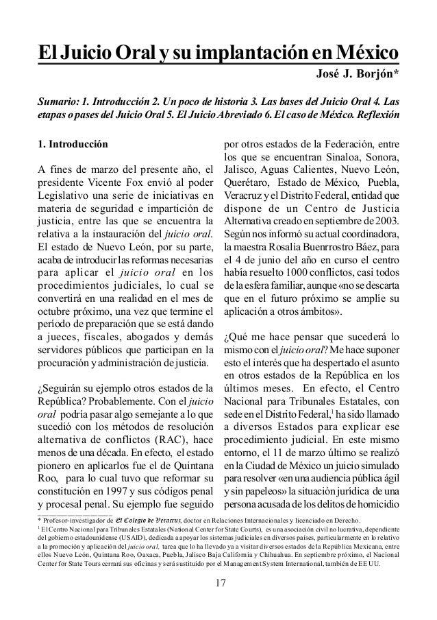 juicio oral y su implicación en México