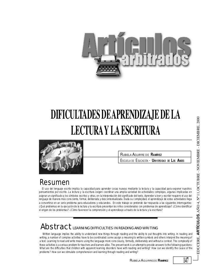 DIFICULTADES DE APRENDIZAJE DE LA                                                                                         ...